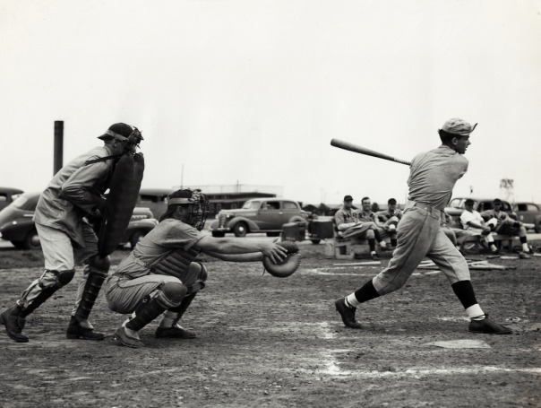 Baseball game between Frederick Army Air Field and Pampa Army Air Field, 7 July, 1945.