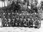 Marine Bombing 611′s squadron baseball team in 1945 at Zamboanga on the island of Mindanao, Philippines, late in the war (source: VMB611.com).