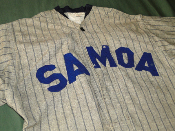 Samoa Jersey Collar and Lettering