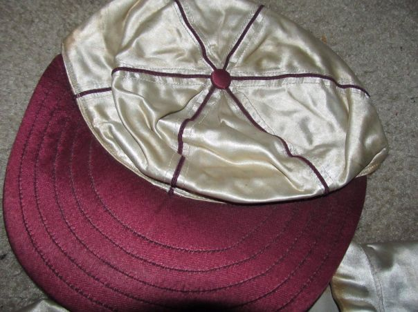 Camp Hunter Liggett - 1940s Satin ball cap made by Spalding.