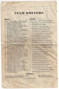 1944 Army vs Navy All Stars World Series Rosters